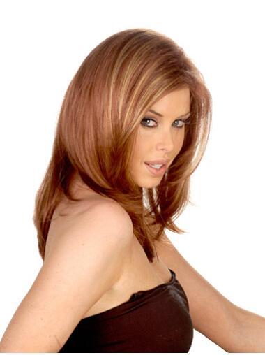 Auburn Straight Long Synthetic Wigs
