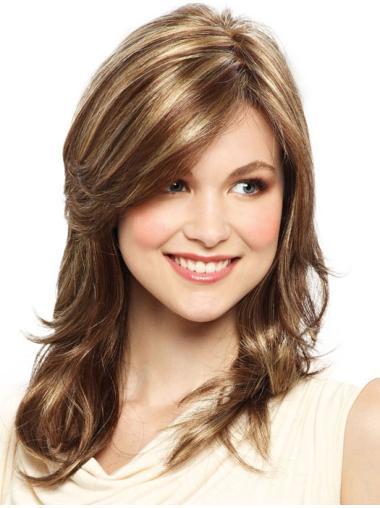 Suitable Blonde Straight Shoulder Length Lace Front Wigs