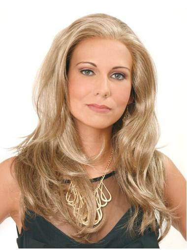 Shining Blonde Straight Long Lace Front Wigs