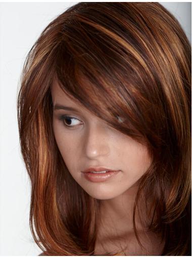 Fabulous Auburn Straight Long Lace Front Wigs
