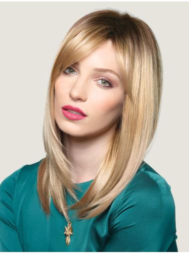 Fashionable Blonde Straight Long Lace Front Wigs