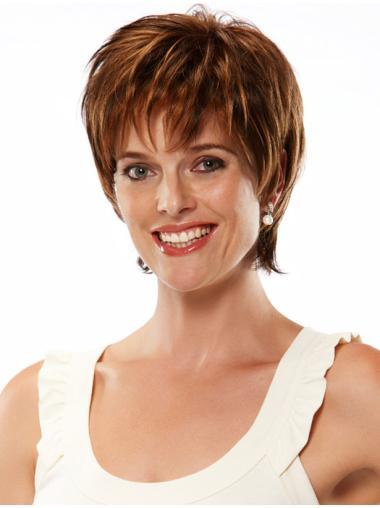 Fabulous Auburn Straight Chin Length Monofilament Wigs