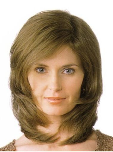 Online Blonde Straight Shoulder Length Monofilament Wigs