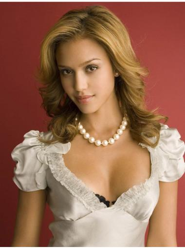 Traditiona Blonde Wavy Long Jessica Alba Wigs