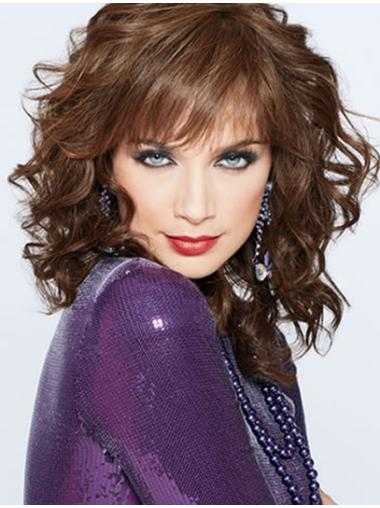 Incredible Auburn Curly Shoulder Length Classic Wigs