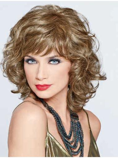 Hairstyles Blonde Curly Shoulder Length Classic Wigs