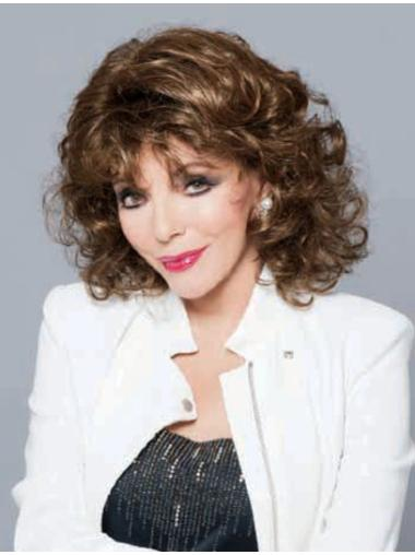 Comfortable Lace Front Curly Shoulder Length Classic Wigs