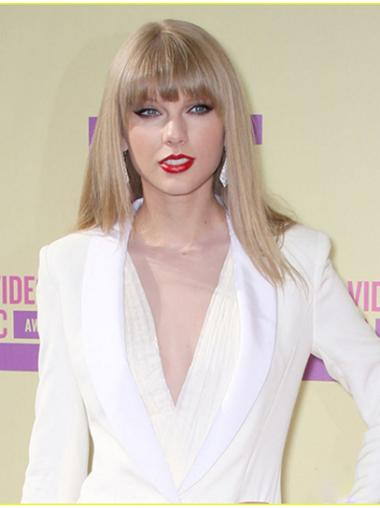 Traditiona Blonde Straight Shoulder Length Taylor Swift Wigs