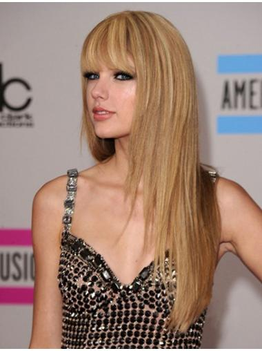 Unique Blonde Straight Long Taylor Swift Wigs