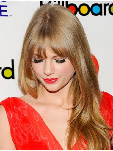 Glamorous Blonde Straight Long Taylor Swift Wigs