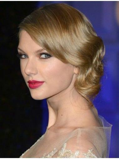 Flexibility Blonde Wavy Shoulder Length Taylor Swift Wigs