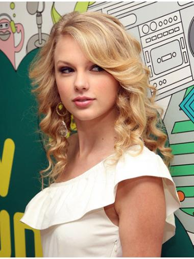 Comfortable Blonde Wavy Shoulder Length Taylor Swift Wigs