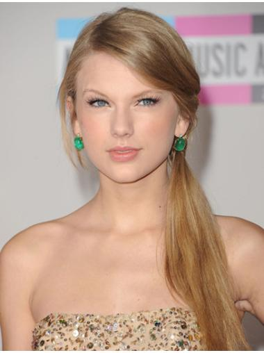 Fashion Blonde Lace Front Long Taylor Swift Wigs