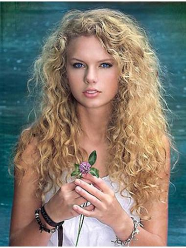 Fabulous Blonde Curly Long Taylor Swift Wigs Celebrity Quality Lace