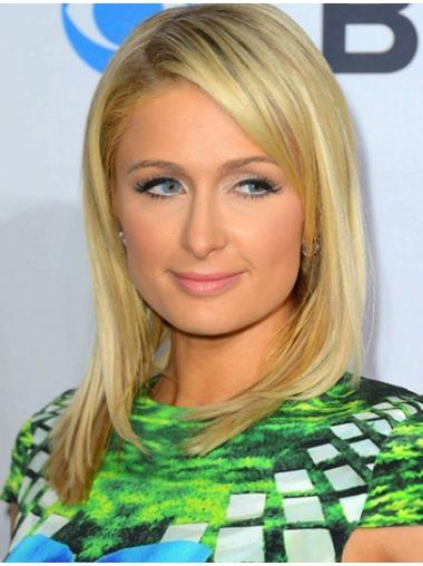 Impressive Blonde Straight Shoulder Length Paris Hilton Wigs