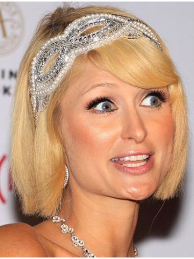 Comfortable Blonde Straight Chin Length Paris Hilton Wigs