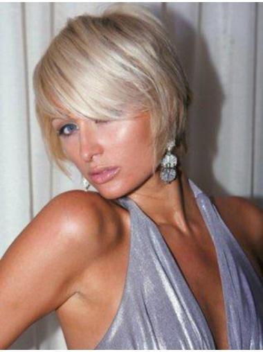Pleasing Blonde Straight Short Paris Hilton Wigs
