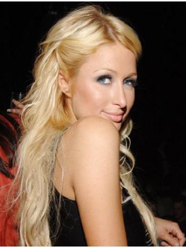 Stylish Blonde Straight Long Paris Hilton Wigs