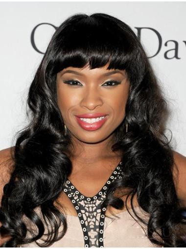 Pleasing Black Wavy Long Jennifer Hudson Wigs