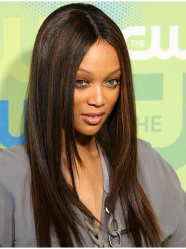 Natural Lace Front Straight Long Tyra Banks Wigs