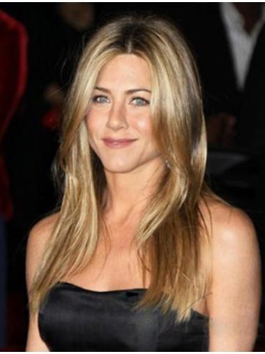 Stylish Blonde Straight Long Jennifer Aniston Wigs