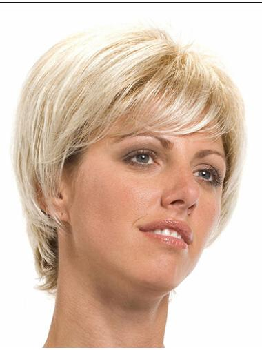 Blonde Lace Front Synthetic No-fuss Short Wigs