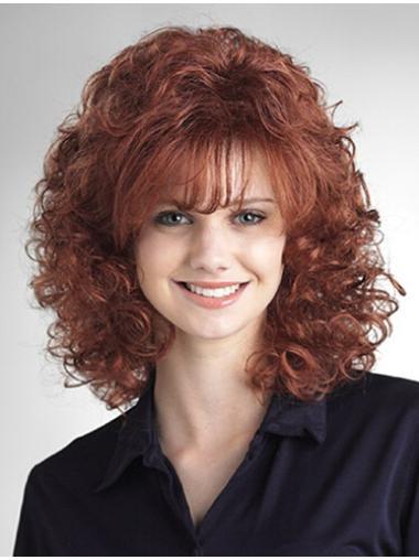 New Auburn Curly Shoulder Length Wigs