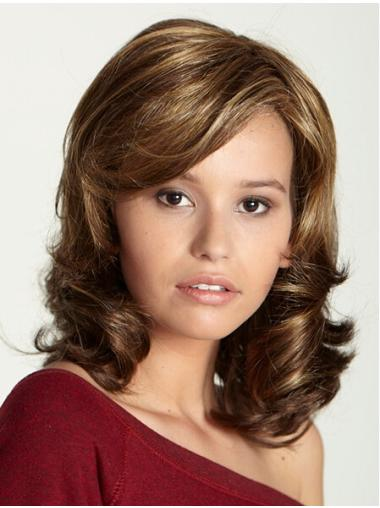 Monofilament Exquisite Curly Synthetic Medium Wigs