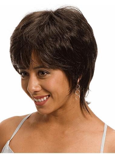 Monofilament Straight Synthetic Elegant Medium Wigs