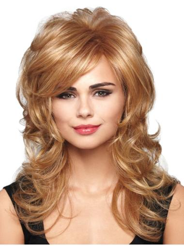 Blonde Wavy Synthetic Convenient Long Wigs