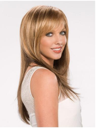 Blonde Straight Synthetic Fashionable Long Wigs