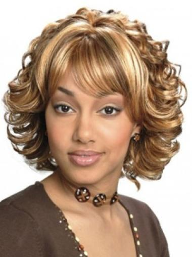 Cosy Blonde Wavy Chin Length Synthetic Wigs