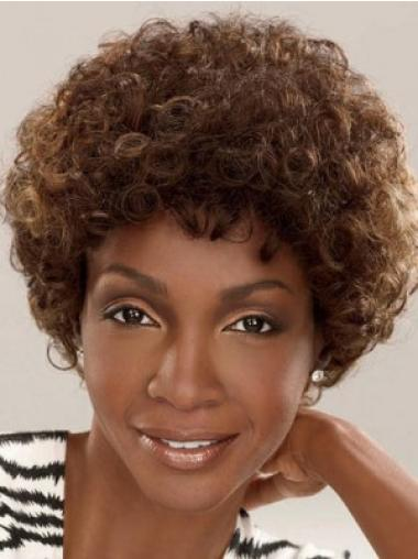 Brown Curly Synthetic Glamorous Short Wigs