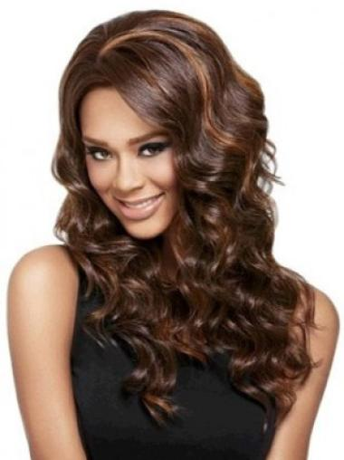 Sleek Auburn Wavy Synthetic Long Wigs