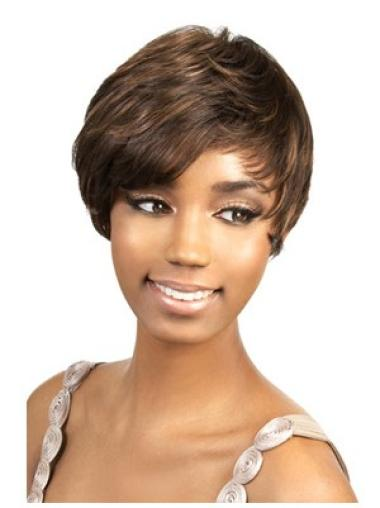 Brown Nice Layered Straight Short Wigs