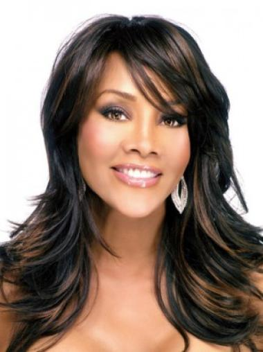 Great Black Straight Synthetic Long Wigs