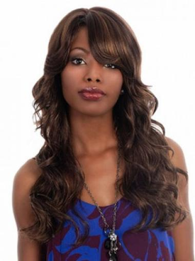 Brown Wavy Synthetic Pleasing Long Wigs