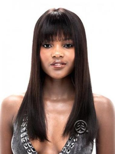 Flexibility Black Lace Front Synthetic Long Wigs