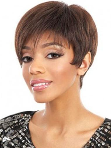 Auburn Straight Synthetic Easeful Short Wigs