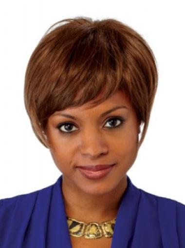 Style Auburn Lace Front Chin Length Lace Wigs