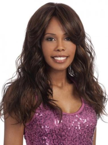 Brown Wavy Synthetic Popular Long Wigs