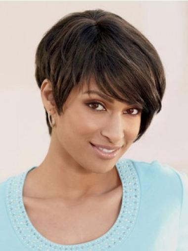 Brown Designed Layered Straight Short Wigs