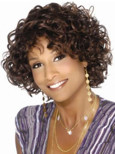 Brown Fabulous Curly Synthetic Medium Wigs