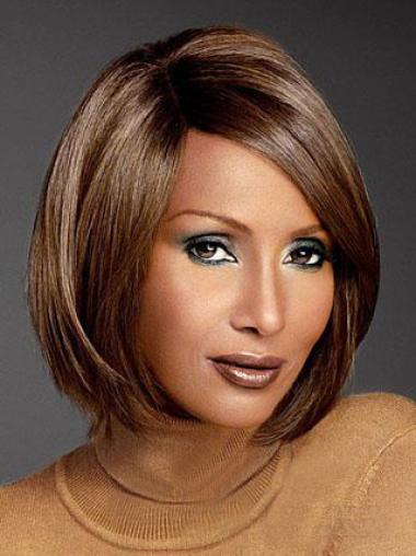 Iman Beautiful Bob Hairstyle Short Straight Lace Front Synthetic Wigs