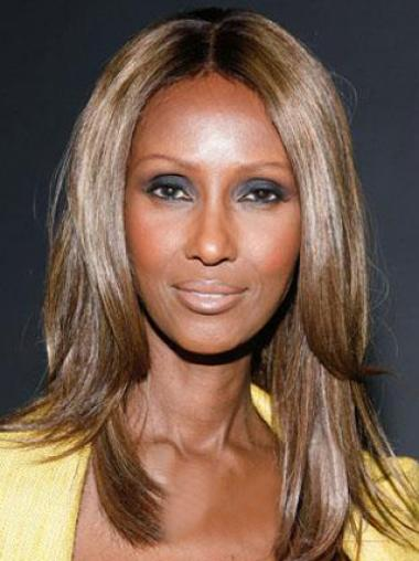 Iman Medium Straight Synthetic Lace Front Wigs