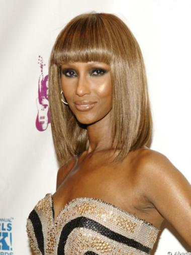 Iman Elegante Natural Short Straight Synthetic Hair Wigs