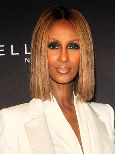 Iman  Blonde straight Bob Cut Wigs