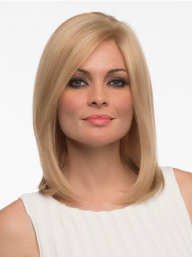 Cheapest Blonde Monofilament Shoulder Length Full Lace Wigs