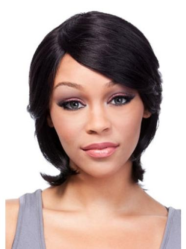 Black Straight Chin Length African American Wigs