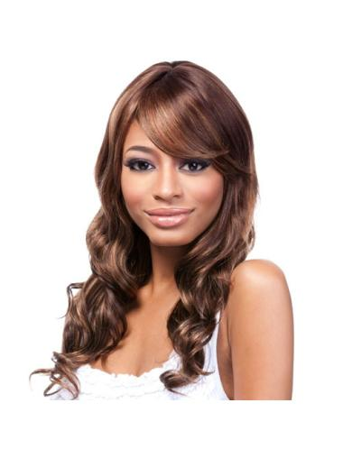 Natural Auburn Wavy Long African American Wigs